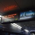 仁川機場鐵路首爾站的LED顯示器