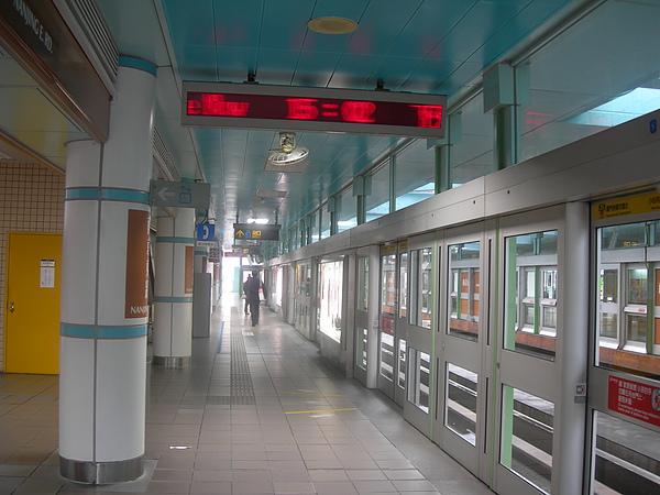 木柵線時期的南京東路站月台