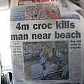 4公尺鱷魚在海灘殺人