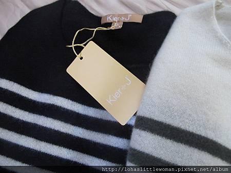 cashmere (2Kiel + J黑白色條紋的cashmere毛衣)