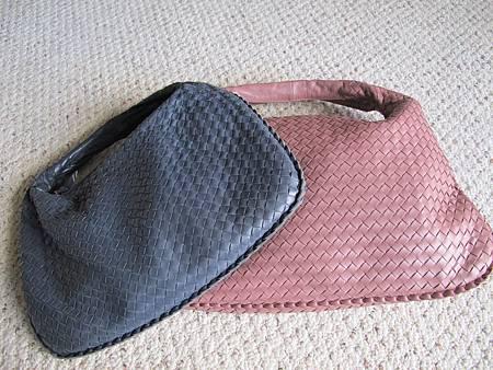 粉藕色 BV 編織包
