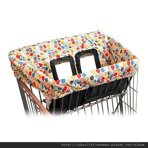 Skip Hop Shopping Cart Cover Multicolored Leaves