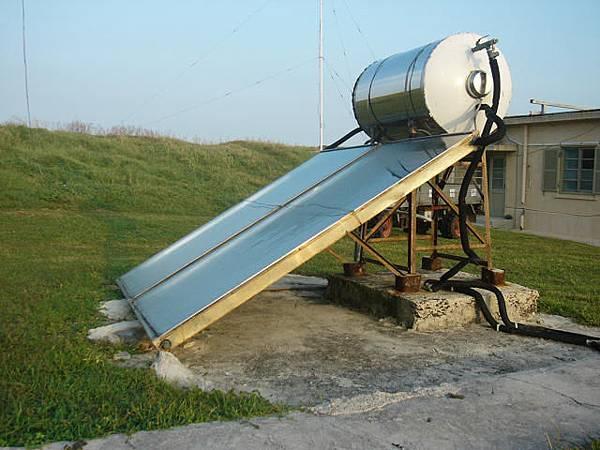 東吉氣象站的太陽能熱水器