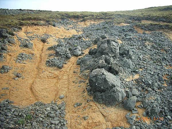 風化的玄武岩