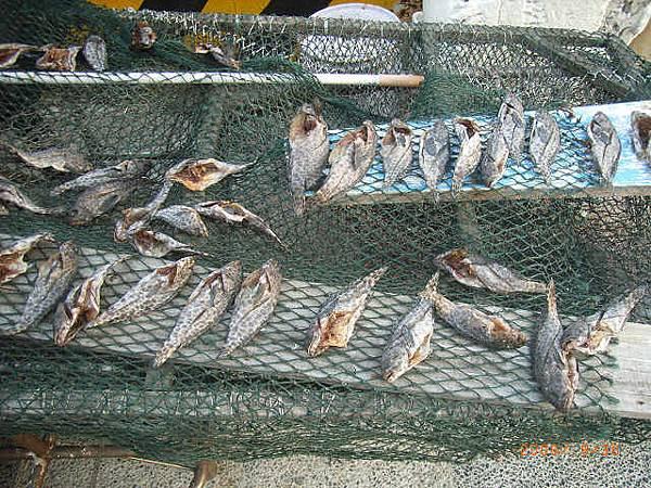 曬石斑魚乾