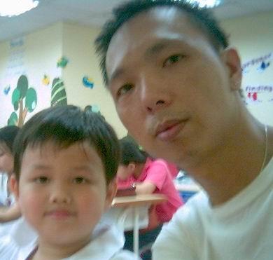 2006年0901與馬駿為(陽光森林兒童美語補習班)
