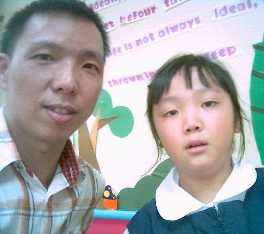 2006年0908與黃子容(陽光森林兒童美語補習班)