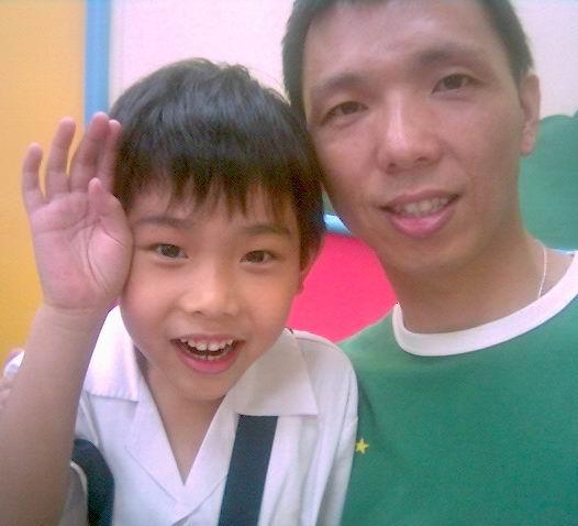 2006年0927與陳佑亮(陽光森林兒童美語補習班)