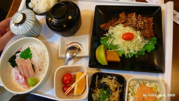 P1090587-牛肉+生魚片.JPG