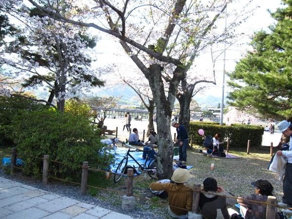 嵐山公園內