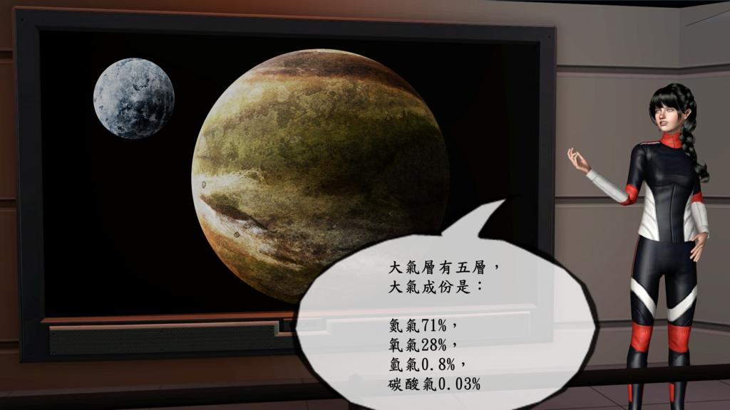 C04大氣層有五層,地表成份是氮氣68%,氧氣30%,氫氣0.8%,碳酸氣0.03%.png