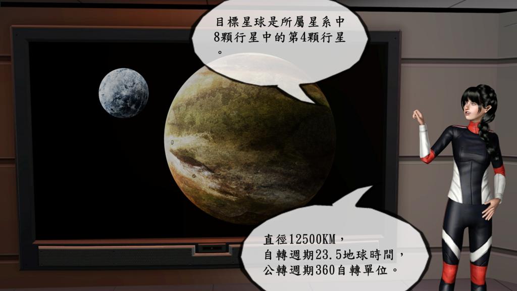 C03該星球是所屬星系中的第四顆行星。直徑約12500KM,自轉週期23.5地球時間,公轉週期約360自轉單位 (2).png