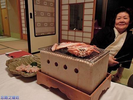 35望洋樓晚餐烤越前蟹-1