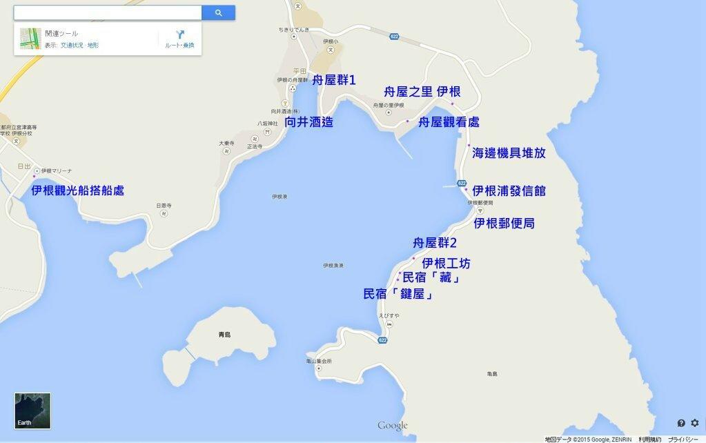 58伊根灣地圖