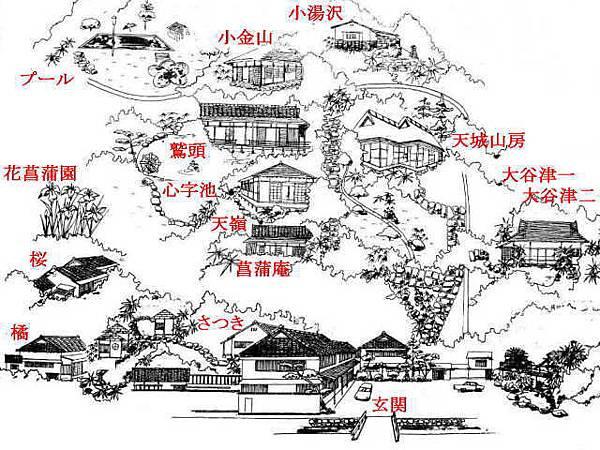 石田屋平面圖