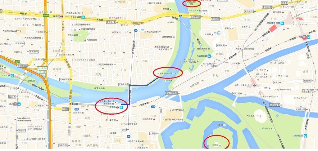 大阪造幣局天滿橋周遭Map-1