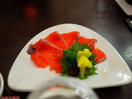 27大町溫泉織花晚餐生魚片.jpg