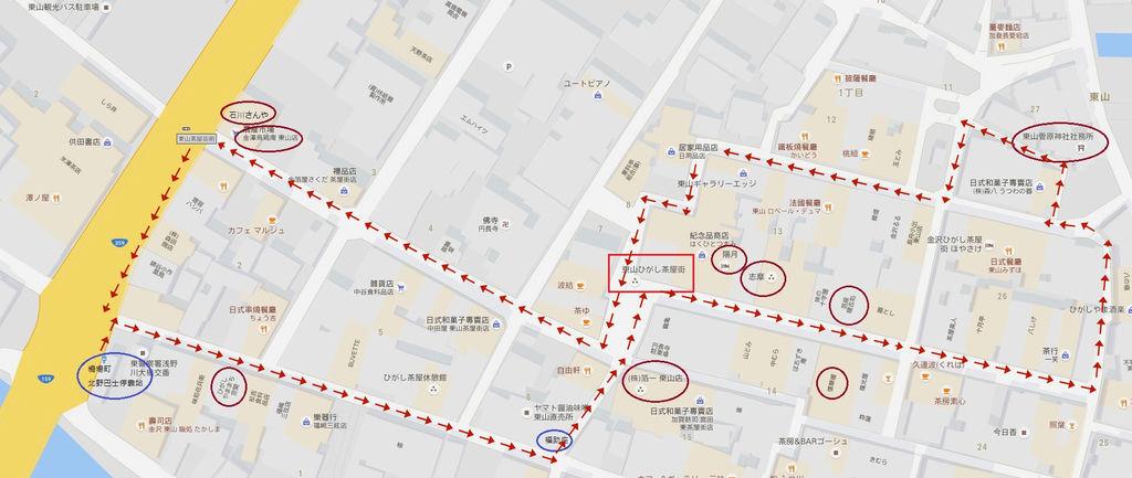 東茶屋街地圖1