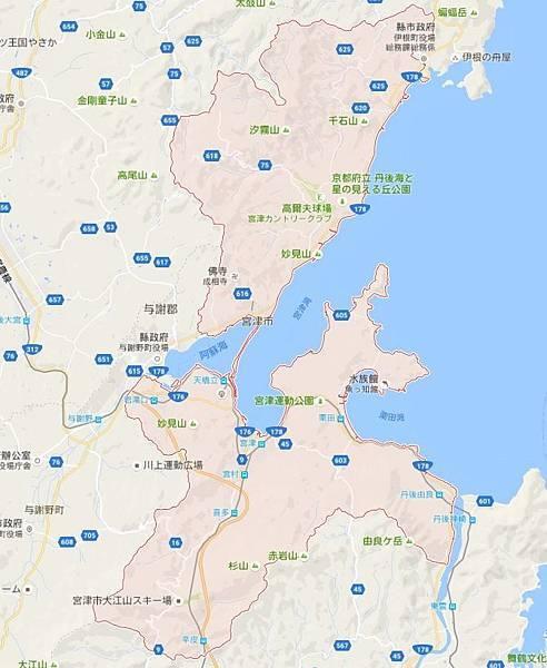 宮津市地圖