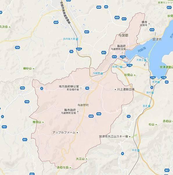 與謝野町地圖