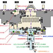 羽田機場入境圖