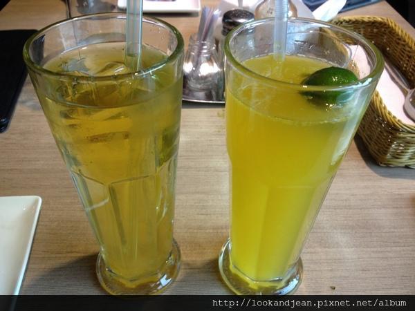 洋甘菊香柚綠茶&冰桔茶