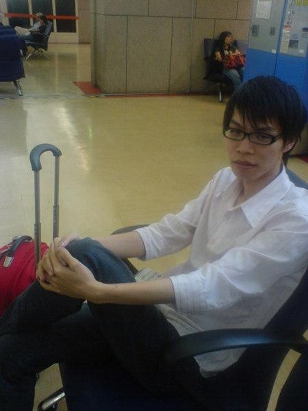 哈尼陪我在機場