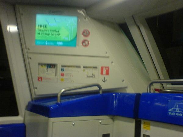 新加坡T1到T2的輕軌列車