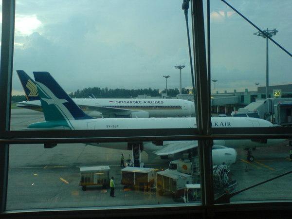 我睡覺的地方外面停的飛機