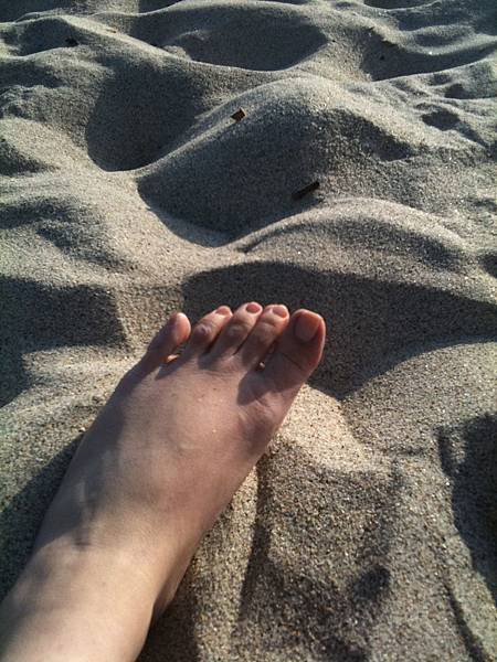 Me and my foot on the beach