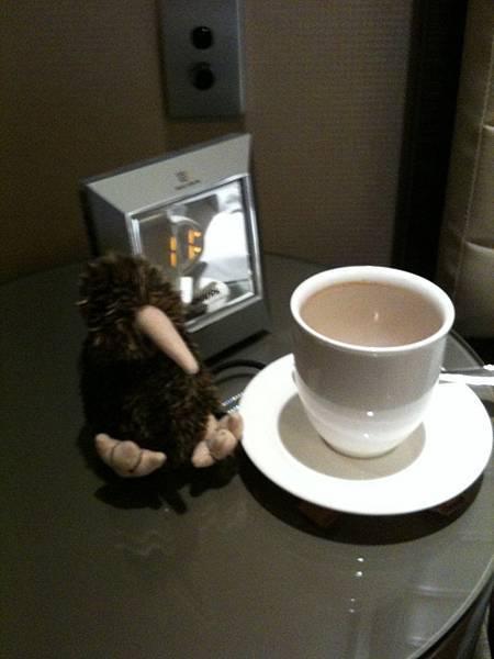 My kiwi bird and morning coffee in Four Seasn Sydney
