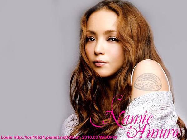 1024x768 Namie Amuro 2010.03 WOOFIN