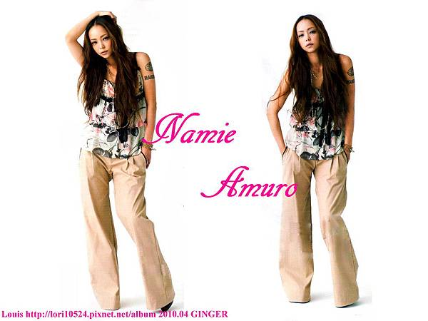 1024x768 Namie Amuro 2010.04 GINGER