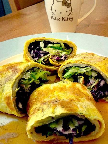 【愛的料理參賽作品】懶人料理之稍稍豪華及變奏版本之一支湯匙搞定早餐店蛋餅-1.jpg