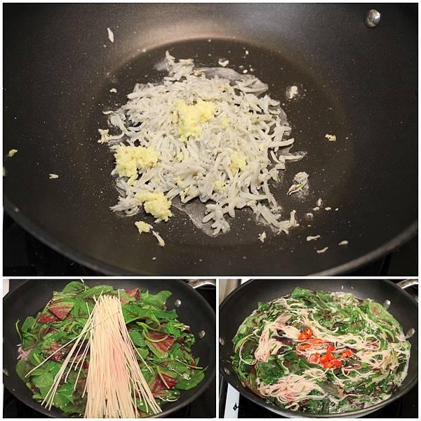 20140530莧菜麵線+韓式辣豆腐鍋