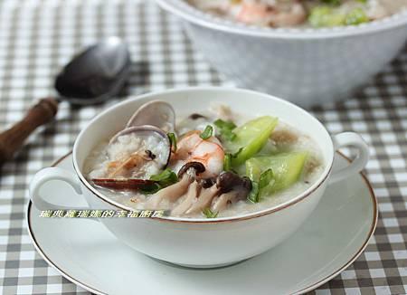 絲瓜燕麥海鮮粥1