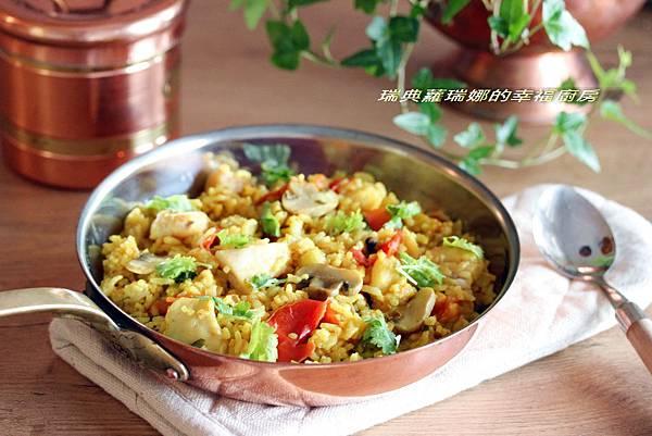 印度咖哩魚片燉飯1