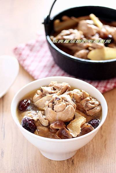 麻油酒釀桂圓雞湯