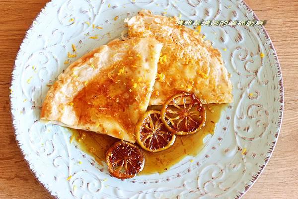 柳橙可麗餅1