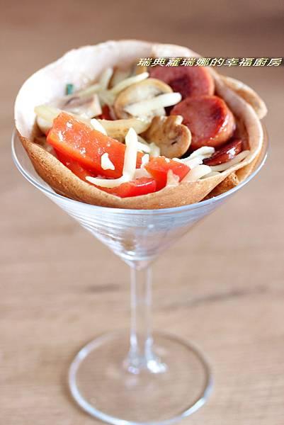西班牙香腸可麗餅