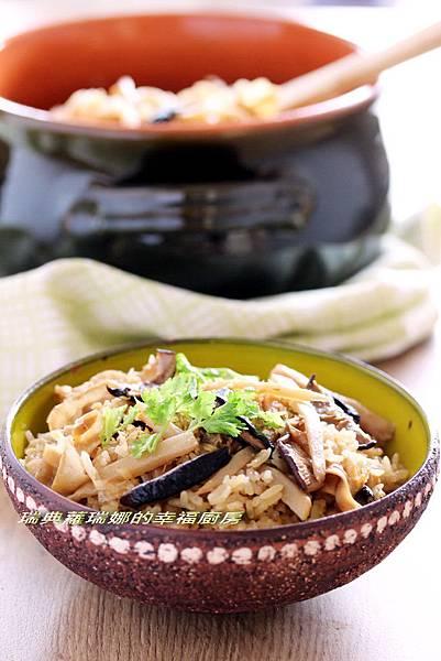 竹筍菜脯炊飯1