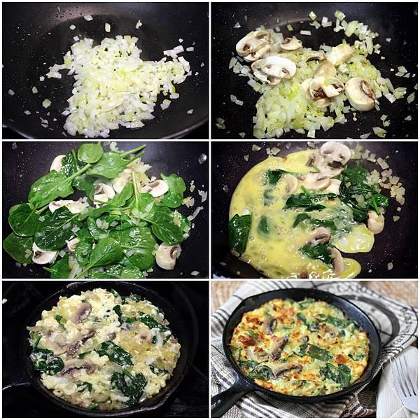 0325蘑菇烘蛋+泰式烤雞沙拉