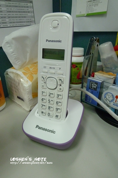 國際牌無線電話KX-TG1611TW