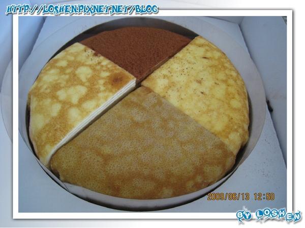 塔吉特千層專賣-4合1綜合口味千層蛋糕