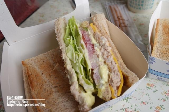 陽台咖啡-鮪魚三明治