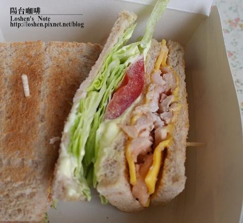 陽台咖啡-燻雞三明治