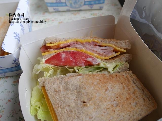 陽台咖啡-培根三明治