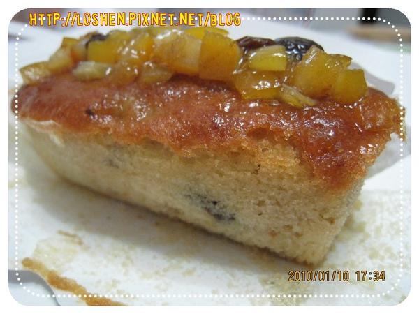 法蘭四季-歐式酒釀香橙水果蛋糕(側面)