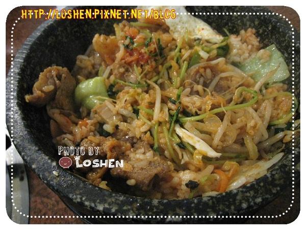原州韓式料理-石鍋拌飯攪拌後