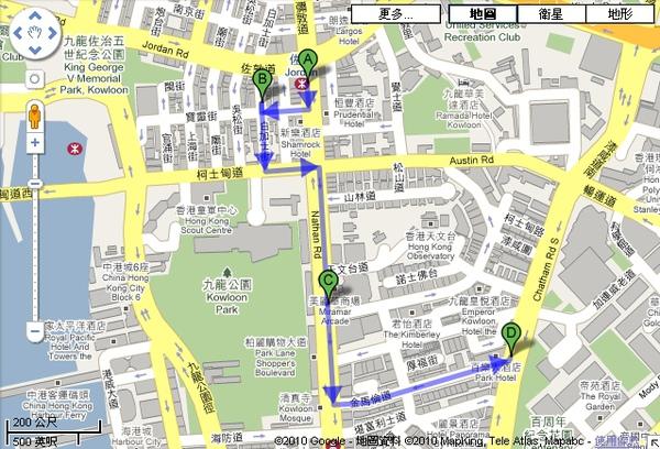 佐敦站地圖
